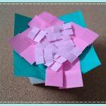 あじさい(紫陽花)の折り紙の折り方・立体的で簡単な作り方