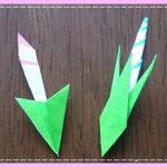 折り紙で朝顔の蕾(つぼみ)の簡単な折り方!