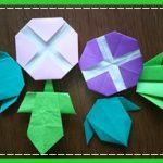 折り紙 朝顔(あさがお)の葉っぱの折り方4種類!