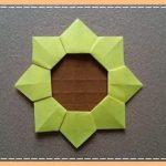 折り紙 ひまわりの平面で簡単な折り方・作り方!