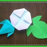 折り紙 朝顔(あさがお)の簡単な葉っぱの折り方!幼稚園児でもOK!