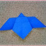折り紙 菖蒲(あやめ・しょうぶ)の平面で簡単な折り方