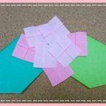 あじさい(紫陽花)の折り紙の折り方・幼稚園児でも簡単な作り方