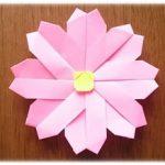 折り紙 コスモスの簡単な折り方・作り方!秋を代表する花ですね