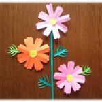 折り紙 コスモスの葉っぱと茎の切り紙!簡単な切り方・作り方!