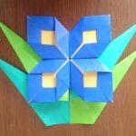 折り紙でりんどうの簡単な折り方!敬老の日の手作りプレゼントにも!